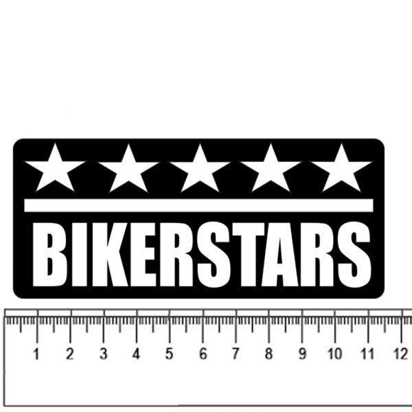 pegatina bikerstars con 5 estrellas arriba